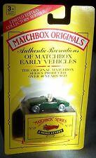 BRITISH MGA BRITISH MATCHBOX MG RACING GREEN 1992 IN ORIGINAL PACKAGE MGA MG MGA