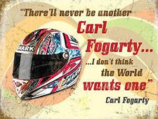 Carl Fogarty Helmet, Motorbike Racing Quote, Race Bike, Small Metal/Tin Sign