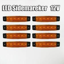 NUEVO 8x 12v LED Lateral Naranja Luz de señalización VW NISSAN Hymer OPEL FORD