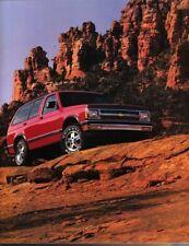 1992 92 Chevrolet S 10 S10 Blazer original brochure