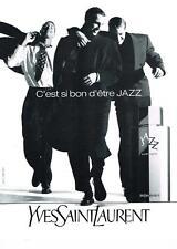 PUBLICITE ADVERTISING  1990   YVES SAINT LAURENT    présente JAZZ  son parfum