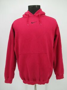 P5215 VTG Nike Swoosh Pullover Hoodie Made In USA Size L