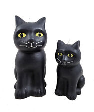 Black Cat Wax Candles Set of 2 So Cute NEW Halloween Home Decor  4.25 and 6""