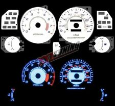 BLUE Reverse El Indiglo Glow White Gauge Face For 95-00 Avenger / Sebring
