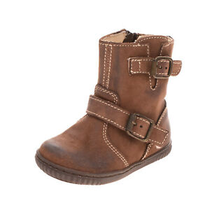 LUNELLA Kids Leather Ankle Boots Size 19 UK 3 US 4 Treated Buckle Made in Italy