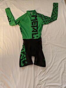 Twin Six Women Cycling/ Triathlon Skinsuit - Black/Green- Small