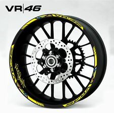 VR46 Valentino Rossi CUSTOM RIM STRIPES WHEEL DECAL TAPE STICKER