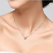New Design Crystal Necklace Love Jewelry Chain 925 Silver Plated Pendant