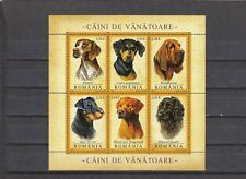 a114 - ROMANIA - SG6568-6573 MNH 2005 HUNTING DOGS - SHEETLET