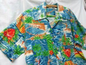 VINTAGE BIG KANAKA HAWAIIAN COCONUT BUTTON FRONT SHIRT XL