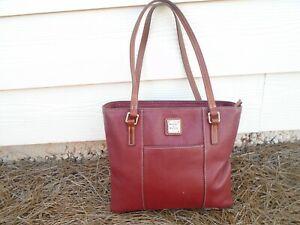 Dooney & Bourke burgundy pebble leather medium tote bag