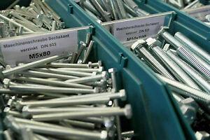 Sechskantschrauben M10 M12 Din 933 verzinkt 8.8 Maschinen Schrauben ISO 4017