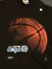 NOS VINTAGE Orlando Magic Shirt Sz. L Black Blue NBA Basketball 90s By LEE