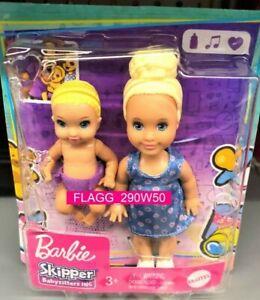 Barbie Skipper BABYSITTERS INC Blonde Siblings Doll 2 Pack Boy Girl READ INSIDE!