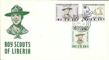 *RARE* FLOCKED CACHET BOY SCOUTS OF LIBERIA COVER, SCOUTS TODAY LEADERS TOMORROW