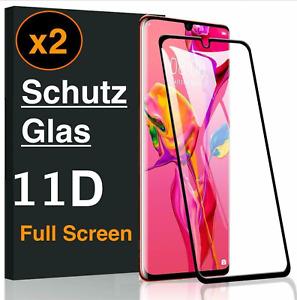2x 11D Panzerfolie Glas Huawei P30 Pro / Lite Schutzglas Schutzfolie Display 9h