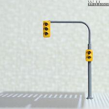 2 x traffic lights HO OO crossing walk model train led street signals #B3C2RHOR