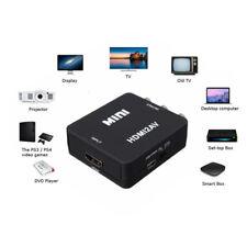 New 1080P Mini Low power HDMI2AV Converter Full HD Adapter Black + Cable YK