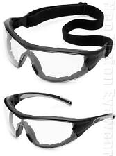 Gateway Swap Clear Anti Fog Padded Safety Glasses Hybrid Goggles Z87+