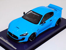 1/18 Maserati Gran Turismo Coupe in Baby Blue LB Performance Leather Base w/Top