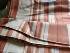 Black out Curtains Brand New Terracotta and beige stripe Very good Quality