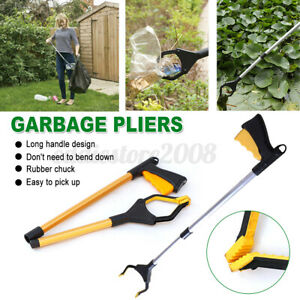 Garbage Grabber Tong Pliers Picking Tool Folding Fetch Device Bathroom