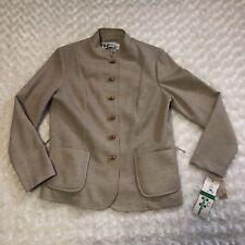 Marty Gutmacher Jacket Size 10 Tan Fortrel Polyester Blazer Vintage Ilgwu Nwt