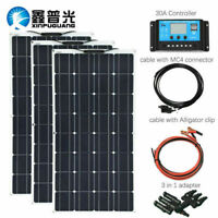 300W flexible Solar Panel System 30A Controller 12v battery/yacht/RV/home/charge
