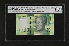 "2018 South Africa Reserve Bank ""Commemorative"" 10 Rand Pick#143 PMG 67 EPQ UNC"