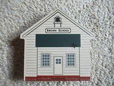 1991 Cat's Meow Village Ohio Amish Series Brown School Retired