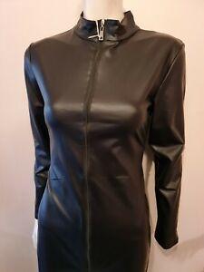 Black Catsuit with crotch zip Fetish BDSM Clubwear