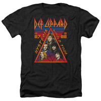 Def Leppard HYSTERIA TOUR 1987 Vintage Style Adult Heather T-Shirt All Sizes