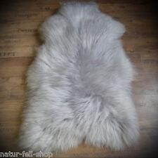 Islandschaffell Schaffell Lammfell Fell  super langflorig silber grau 120-130cm