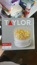 Taylor 5 Pounds Add & Weigh Kitchen Food Scale White -NEW