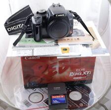 Canon EOS Rebel XTi 10.1MP Digital SLR Camera Body 400D Black with extra