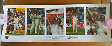 Signed Michael Vaughan - Cricket Print - The Ashes 2005 - England vs Australia