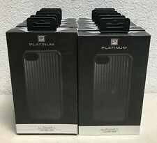 LOT OF 12x Platinum - Leather Linear Case for Apple iPhone 7 - Black NEW!!!