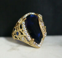 925 Sterling Silver Handmade Authentic Turkish Sapphire Ladies Ring Size 6