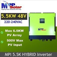 Inversor Solar híbrida 5500w 48v 230vac 500v Rejilla atado de entrada PV Solar Fuera Red