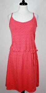 Columbia Womens Athletic Dress Tunic Drop Waist Padded Bra, Stripe Pink M