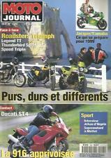 MOTO JOURNAL N°1345 ROADSTERS TRIUMPH / LEGEND TT / THUNDERBIRD SPORT / ST 4