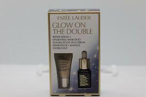 Estée Lauder 2-Pc.Glow On The Double Set Repair serum & Mask .24 fl oz/ 7ml NIB