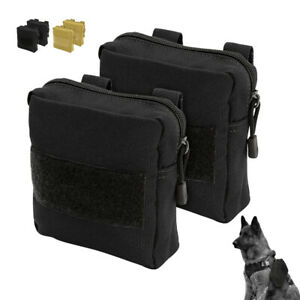 2pcs Dog Training Pouches Side Bags Carrier Detachable for K9 Tactical Harness