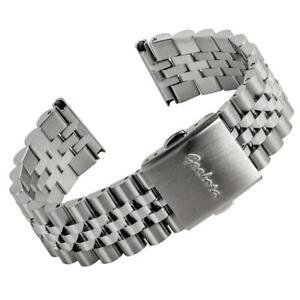 Geckota Classic Warrington Stainless Steel Watch Strap Metal Bracelet