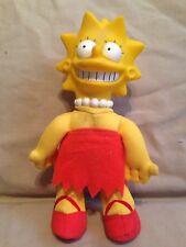 """Vintage The Simpsons cartoon tv show Lisa sister Doll Plastic Plush 8"""" used"""