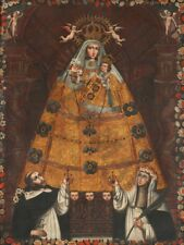 PAINTING ANON (CUSCO SCHOOL) OUR LADY OF THE ROSARY   POSTER ART PRINT HP3147