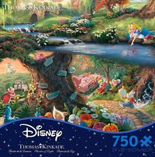 Thomas Kinkade Puzzle Disney's Alice In Wonderland 750 Ceaco Puzzle