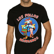 Breaking Bad LOS POLLOS HERMANOS Chicken Brothers Black T-Shirt Tee Cosplay M