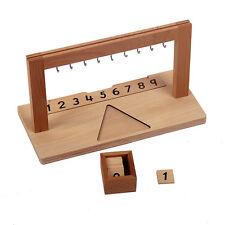 New Montessori Mathematics Material- Pemium Wooden Hanger for Color Bead Stairs