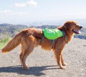 Outward Hound DayPak Dog Backpack Adjustable Saddlebag Style Hiking Gear Blue-S